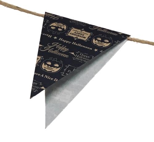 ハロウィン用ガーランドを作る手順の画像