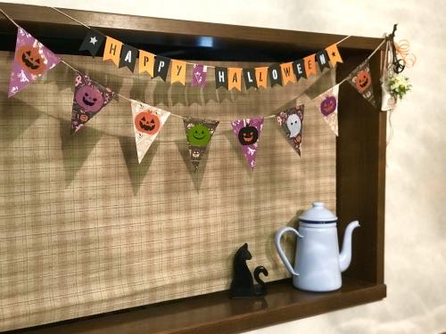 ハロウィンのお部屋飾り完成図