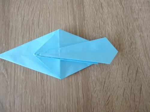 折り紙で貝を折る折り方の手順の画像