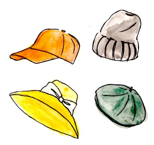 色々な帽子のイラスト