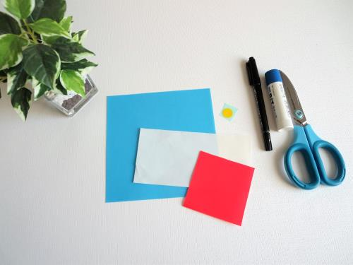 折り紙でドラえもんを折る折り方の手順画像
