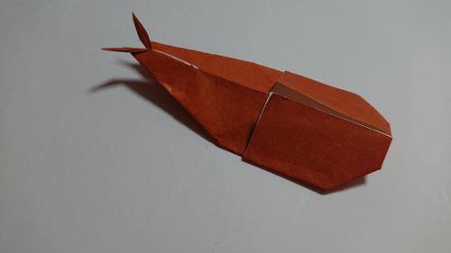 折り紙でカブトムシを折る折り方の手順画像