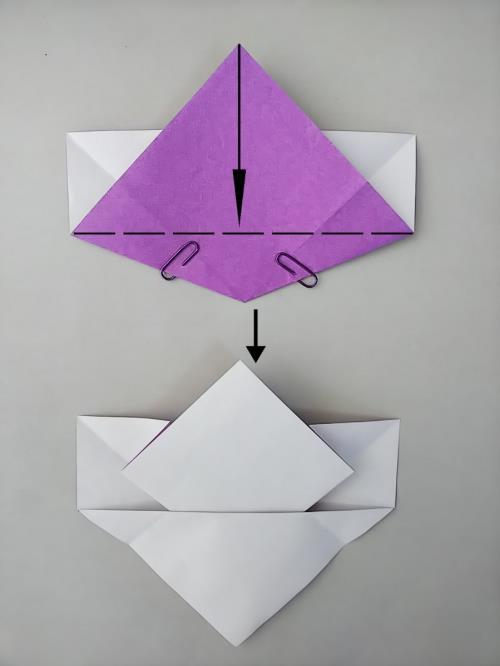 折り紙であやめを折る折り方の手順画像